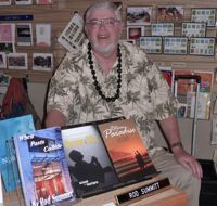 Rod Summitt signs his books in Covered Treasures, Monument, CO